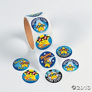 "1 1/2"" ""Star Student"" Roll Stickers"