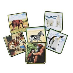 "3 3/4"" x 4"" Paper Wildlife Notepads"
