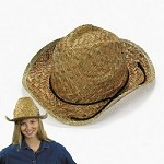 Adult's Straw High Crown Western Hats