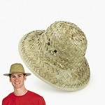 Adult's Straw Pith Hats