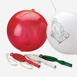 "16"" Rubber Holiday Punch Balls"
