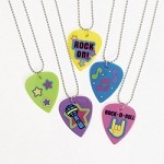 Plastic Guitar Pick Necklaces