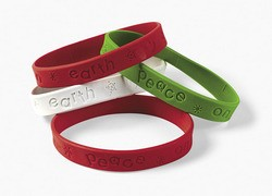 """Peace on Earth"" Rubber Bracelets"