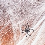 Non-Flammable Stretchable Spiderwebs