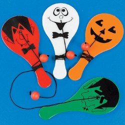 Mini Halloween Paddleball Games