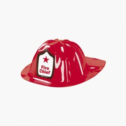 "8 1/4"" x 10 1/2"" Child's Plastic Fire Chief Hats"