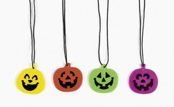 "1 1/2"" Iconic Halloween Jack-O'-Lantern Necklaces"