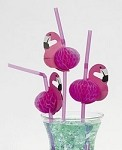 Flamingo Tropical Drink Straws