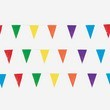 100' Multicolor Polyplastic Pennant Banner