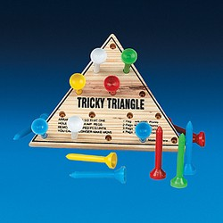 "4 1/2"" Wooden Tricky Triangle Game"