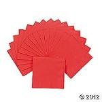 20 ct. Red Beverage Napkins