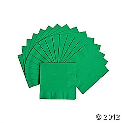 20 ct. Green Beverage Napkins