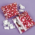 Plastic Dominoes In Valentine Case