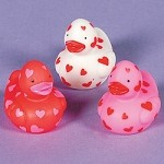 Vinyl Mini Valentine Rubber Ducks
