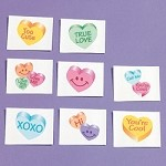 Conversation Heart Glitter Tattoos