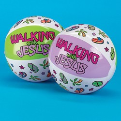 "Inflate ""Walking With Jesus"" Beach Balls"