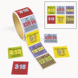 "1 1/2"" Religious Passage Roll Stickers"