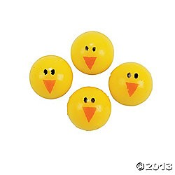 "1"" (25mm) Rubber Chick Bouncing Balls"