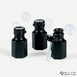 Mini Black Hexagon Bubble Bottles