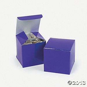 "2"" x 2"" x 2"" Mini Purple Cardboard Boxes"