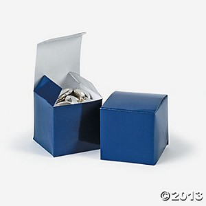"2"" x 2"" x 2"" Mini Navy Cardboard Boxes"