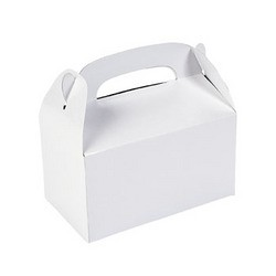 "6 1/4"" x 3 1/2"" x 6"" White Paper Treat Boxes"