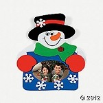 Snowman Photo Frame Magnet Craft Kit