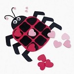 Foam Ladybug Valentine Tic-Tac-Toe Craft Kit