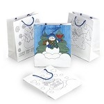 Color Your Own Snowman Gift Bags