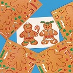 Make-A-Gingerbread Man Stickers
