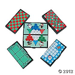 "5"" x 5"" Plastic Holiday Magnetic Travel Games"