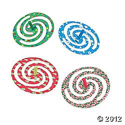 "3 3/4"" Plastic Holiday Spin Tops"
