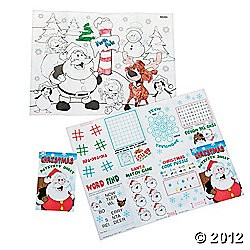 "2 1/4"" x 4 1/4"" Christmas Fold-Up Activity Books"