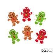 "1"" x 1 1/2"" Gingerbread Erasers"
