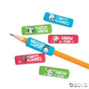 "1 1/2"" Foam Christmas Pencil Grips"