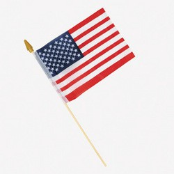 "4"" x 6"" Polyester USA Flags"