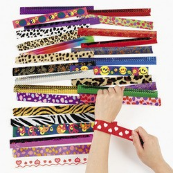 "9"" Metal Slap Bracelet Assortment"