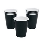 12 oz Black Paper Cups