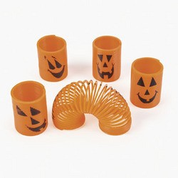 "1 1/2"" Plastic Mini Pumpkin Magic Springs"