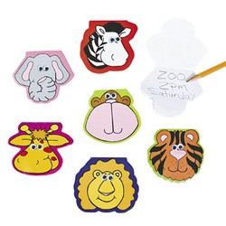"3 1/2"" Zoo Animal Shaped Notepads with Wiggle Eyes"