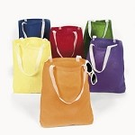 Large Canvas Bright Color Tote Bags