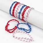 Patriotic Rope Friendship Bracelets