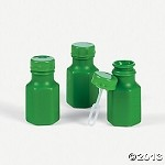 Mini Green Hexagon Bubble Bottles