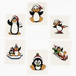 Penguin Glitter Tattoos