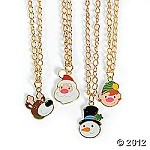 Metal Holly Jolly Necklaces